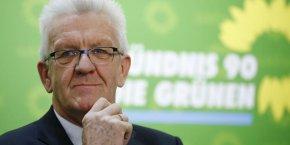 Winfried Kretschmann, personnalité centrale des Verts est favorable à l'alliance avec la CDU et est le gagnant informel de la primaire.