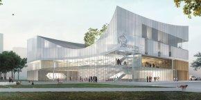 Rennes, conservatoire à rayonnement régional (CRR), Tetrarc cabinet d'architectes nantais, Pascale Paoli-Lebailly, Bretagne, architecture, métropole, renouvellement urbain,