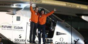 André Borschberg et Bertrand Piccard, les deux pilotes de SI2