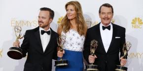 """Le triomphe de la série """"Breaking Bad"""" aux Emmy Awards pour la dernière saison en 2013."""