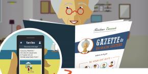 Conçue comme un réseau social familial, fermé et sécurisé, et sans publicité, cette application web permet aux personnes âgées de recevoir une gazette papier personnalisée et contenant les photos et les messages envoyés par leur famille. Les proches, quant à eux, peuvent suivre ce qui se passe à la maison de retraite grâce à un fil d'actualité.