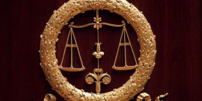 Justice scales are seen inside france's national assembly