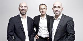 Sébastien Le Corfec, Ronan Le Moal, Charles Cabillic, les trois cofondateurs de la West Web Valley.