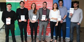 Les lauréats Centre-Sud du Prix La Tribune Jeune Entrepreneur 2017, mardi 24 janvier à Toulouse.