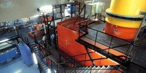 Le four de l'usine Centraco, gérée par Socodéi à Marcoule