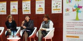 Carine Blanc, déléguée générale de l'IéS, Carole Delga, présidente de la Région Occitanie, et Marie-Meunier Polge, conseillère régionale déléguée à l'ESS.