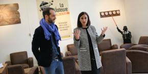 Le conseiller municipal en charge de l'économie sociale et solidaire François Lemoine et la maire de Colomiers Karine Traval-Michelet.