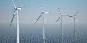 Set d'éoliennes offshore