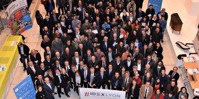Lors de la soirée de soutien à l'IDEX, en janvier 2017, à l'hôtel de Région.