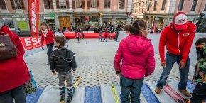 AU FIMM, l'ESF organisait des ateliers de ski pour les enfants.
