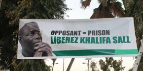Affiche en soutien au maire de Dakar