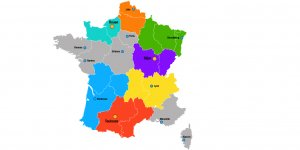 Carte de France des nouvelles préfectures / capitales régionales