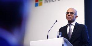 Satya Nadella, PDG de Microsoft, présente la stratégie du groupe sur le cloud