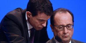 La confiance en francois hollande et manuel valls en nette baisse