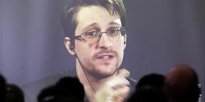 Le lanceur d'alertes Edward Snowden en novembre 2016