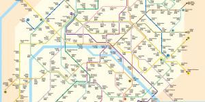 Carte métro parisien AIrbnb