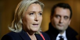 "Marine le pen salue de ""bonnes intentions"" de francois hollande"