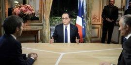 Le président de la République François Hollande en direct du palais de l'Elysée le 11 février