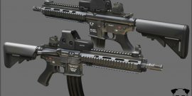 fusil d'assaut HK 416 Heckler & Koch jean-Yves le Drian