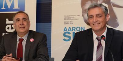 Christian Fina (à gauche) est nommé DGS de la Ville de Montpellier par Philippe Saurel.