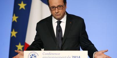 """François Hollande a martelé jeudi qu'il voulait obtenir """"un accord historique"""" sur le climat à la COP21."""