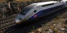 Passage le 10 novembre 2008  d'un TGV sur la ligne Perpignan Narbonne touchée par des actes de sabotage