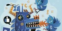 « Like » contre « gazouillis »… À tout juste 10 ans, Facebook domine encore largement Twitter, de deux ans son cadet. Les deux grands médias sociaux sont à l'affût d'une part plus grande encore du gâteau publicitaire.