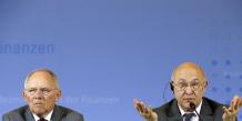 Conférence de presse Schauble Sapin à Berlin