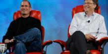 Steve Jobs et Bill Gate lors de la conférence D5 organisée par All Thinhgs Digital en 2007. / DR