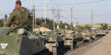 Des blindés russes détruits en Ukraine, selon Petro Porochenko