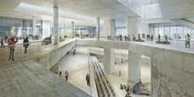 Maquette virtuelle du musée M+ de Hong Kong, qui offrira 15.000 m2 d'espaces d'expositions sur les arts visuels depuis 1949.