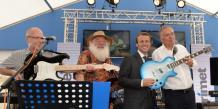 Le ministre de l'Economie Emmanuel Macron est venu fêter la relance de Trimet samedi. Crédits : Laurent Cerino