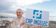 Jean-Paul Calès, président de Cap Ingelec, présente le nouveau logo du groupe