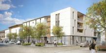 """Vue d'architecte du futur projet de """"béguinage"""" place Rambaud."""