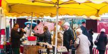 Le marché de la ville de Mornant.