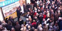 Étienne Mourrut en campagne pour Léopold Rosso lors des dernières élections municipales
