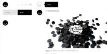 Exemple d'une page du réseau social Ello. Le design se veut sobre et chic à la fois.