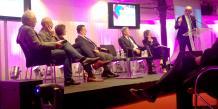 Les intervenants à la conférence de la CCI-Paris/La Tribune : « Le Pari (s) d'une nouvelle croissance », qui s'est tenue le 30 septembre à la Bourse du Commerce.