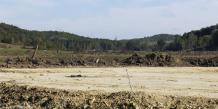 Le site du projet controversé du barrage de Sivens, près de Lisle-sur-Tarn.