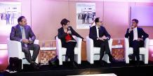 Jean-Luc Montané et Bruno Mazuras, les deux intervenants d'Axa Entreprises, ainsi que Louis Bin, chef d'entreprise invité pour partager son expérience, ont débattu pendant une heure trente devant une cinquantaine de participants.