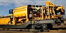 Le train de bétonnage et son wagon-pompe (Les Ateliers d'Occitanie, à Narbonne)