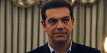 Alexis Tsipras (Syriza), le nouveau Premier ministre de la Grèce au palais présidentiel le 2015.01.27 mardi