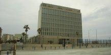 L'ambassade am�ricaine � La Havane, en 2007