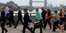 Baisse du nombre de demandeurs d'emploi en grande-bretagne