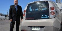 JL Monfort (ok) Bluecar Montréal Blue Solutions Canada produit les batteries révolutionnaires des voitures électriques qui constituent le réseau d'Autolib' à Paris - Bolloré