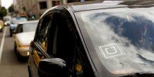 Une voiture américaine arborant le logo du VTCiste Uber en mai 2015 en Californie