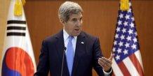 Kerry ecarte des pourparlers avec pyongyang sur le nucleaire