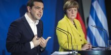 Angela merkel face a la responsabilite d'une eventuelle sortie de la grece de l'euro