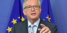 Jean-claude juncker dit que la ce s'emploie a rouvrir les negociations avec la grece