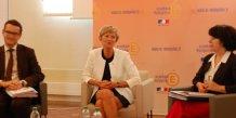 La rectrice de Montpellier, Armande Le Pellec Muller, en conférence de rentrée, le 31 août 2015.